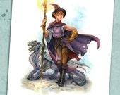 Elven Magic 8.5 x 11 Print