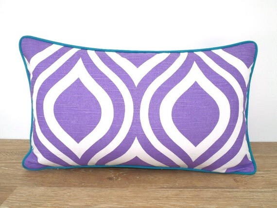 Small Throw Pillow Cases : Light purple accent pillow case 18x12 lilac lumbar bolster