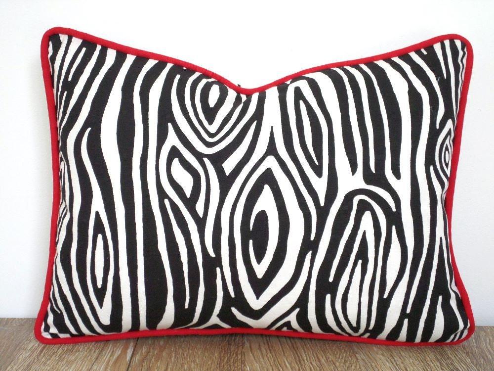 Animal Print Lumbar Pillows : Black lumbar pillow 16x12 animal print pillow case black and