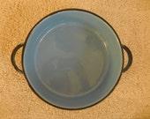 Beautiful Blue Enamel Pan Pot