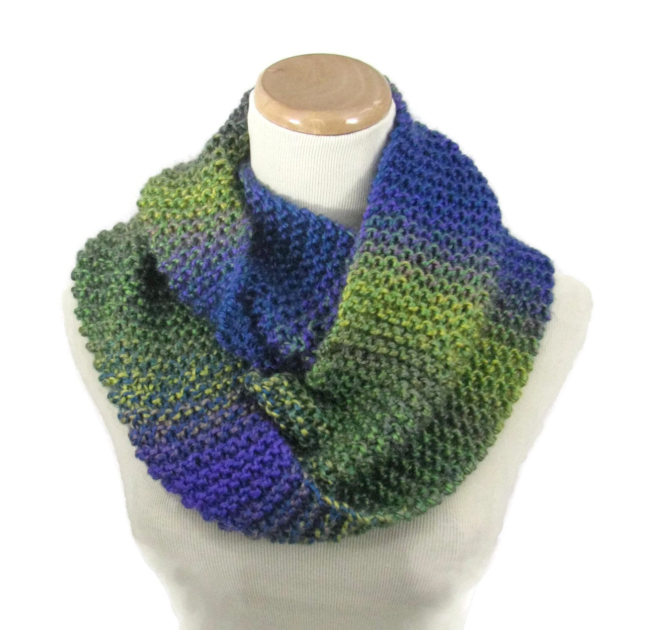 knit infinity scarf knit cowl knit scarf multicolor