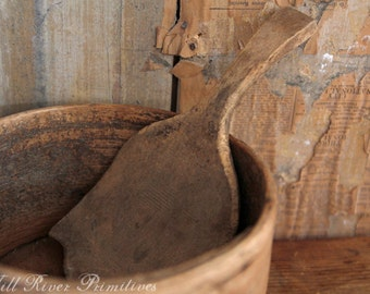 Primitive Old Wooden Paddle/Scoop