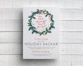 Print Your Own Holiday Bazaar Invitation