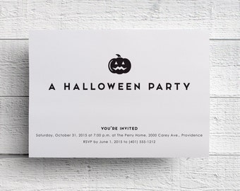 Print Your Own Halloween Party Invitation