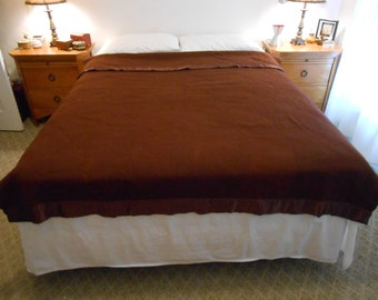 Acrylic Bed Blanket In A Deep Dark Brick/Rustic Brown Color/Double/Full Size/New Condition