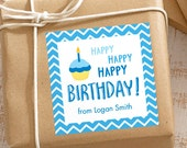 Personalized Birthday Gift Stickers - Set of 12
