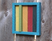 """Great Gift Idea! Outdoor Art Brightly Colored Reclaimed Cedar Strips for Home & Garden Decor 10""""x10"""" Outdoor / Indoor - Laughing Creek"""