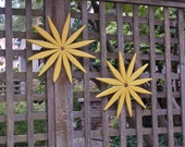 Cheerful Yellow Wooden Wreath to Brighten Your Day  available in 15 Colors for Outdoor & Indoor Home Decor handcrafted by Laughing Creek
