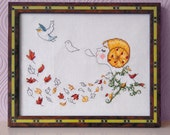 Autumn Cross Stitch Pattern- Vintage Cross Stitch- Instant Download