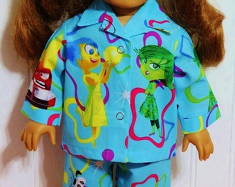 INSIDE OUT Characters Cotton Pajamas fits 18inch Dolls - Proudly Made in America