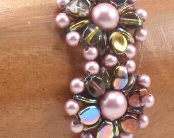 Beading Tutorial for Poppy Song Bracelet, jewelry pattern, beadweaving tutorials, instant download, PDF