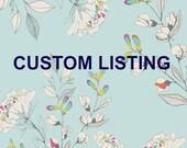 Custom Listing for Romane