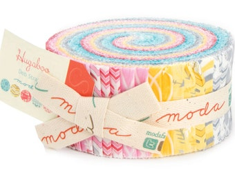 "HUGABOO Jelly Roll by Deb Strain for Moda Fabrics 19730JR 40 2.5"" x 42"" Fabric Strips"