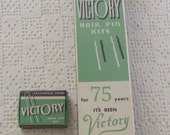 Vintage Victory Hair Pin Store Display with 23 Boxes