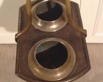 Vintage Brass Art Specialty Co., Art Deco, Ashtray Stand