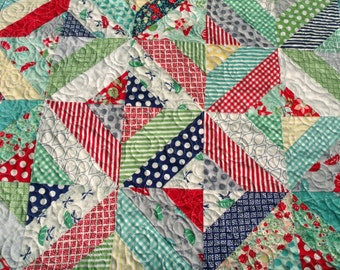 Modern April Showers Hugs and Kisses Lap Quilt