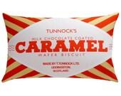Tunnock's Caramel Wafer Printed Cushion