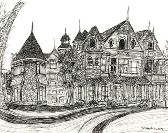 Winchester Mystery House - Haunted House Print