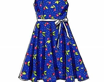 Girls' Dress Pattern, Girls' High Low Dress Pattern, McCall's Sewing Pattern 7180