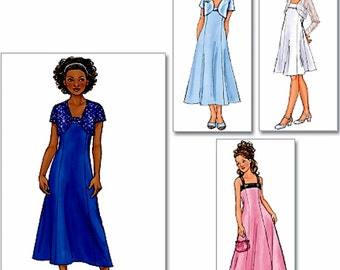 Girls' Special Occasion Formal Dress Pattern,Tween Girls' Formal Dress Pattern,  Butterick Sewing Pattern 4385