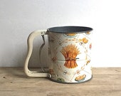 Androck Hand Sifter 3 Screen Vintage 1950s Wheat Cake Pie Motif