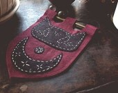 The Moon - hand sewn sigil banner - SALE