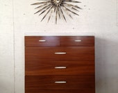 Vista of California Mid Century Modern Tall Dresser Chest Eames Nelson era 1960s bedroom furniture
