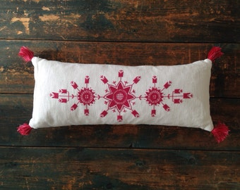 Hand embroideried pillow