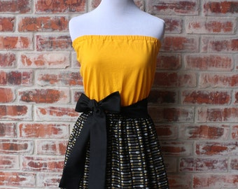 Black and Gold Arrow Game Day Dress - Size Small
