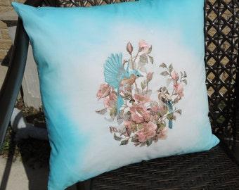 Embroidered Birds Decorative Pillow, Home Decor, Home & Living