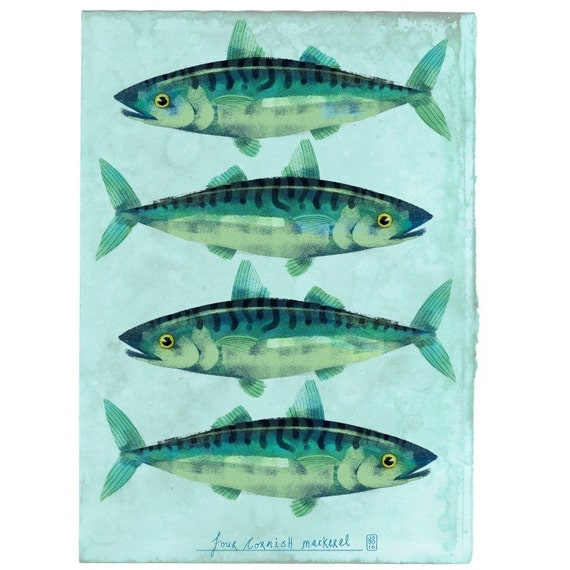 Cornish Mackerel - Signed print