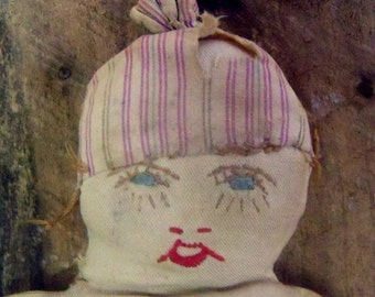 Antique primitive cloth doll,   Early cloth doll,   Hand Made doll,   Early rag doll