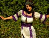 R E S E R V E D for Melissa... do not buy... SOLD... 1970s Maxidress With Crochet Details... 70s Boho Beauty... AMETHYST