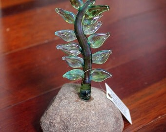 Living Rock - glass and rock sculpture