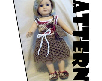 Crochet Pattern: Shopping Day Dress for American Girl and similar 18 inch dolls