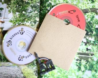 Plain Kraft Brown diy CD sleeve envelopes