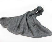 Soft Headscarf Dark Gray Solid Head Cover Adult Headcovering Bad Hair Day Head Scarf Gray Extra Wide Headband (#2852) S M L XWK