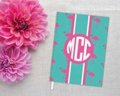 Pink Flamingo | Personalized Hardback Journal | Flamingos for a Cure | Breast Cancer Awareness | Monogram Notebook