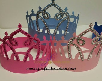 Princess Crown with Rhinestone for Adult or Child (1 adjustable)