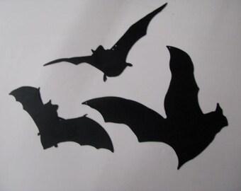 Halloween Bats Set of Three Metal Wall Art