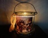 Large Halloween ZOMBIE Lantern candle holder