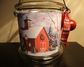 Christmas Lantern luminary Old Red Christmas Barn