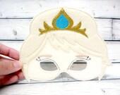 Winter Snow Queen Children's Felt Mask
