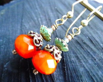 Pumpkin Fall Thanksgiving Earrings