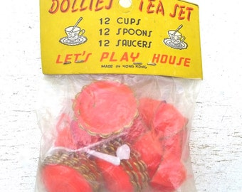 Vintage Dollies Tea Set Child's Toy Set Of 2 Original Packaging