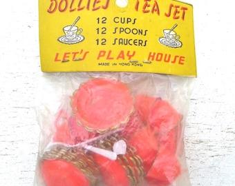 Vintage Dollies Tea Set Child's Toy Set Of 2 Original Packaging