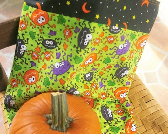 Halloween Trick or Treat Tote Bag with Spiders