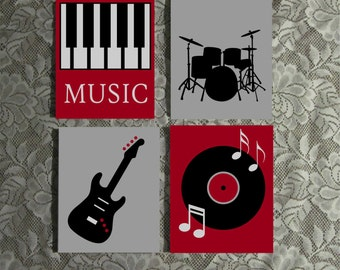 Music Themed Wall Art, Custom Painted Canvas Quote, Hand Painted Quote, Canvas Wall Art, Canvas Wall Quotes, Musical Art, Teen Room Decor