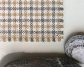 set of 6 simple Harris Tweed placemats with frayed edges
