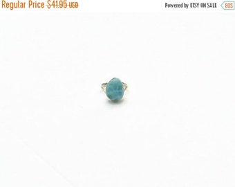 ON SALE Larimar Jewelry Larimar Ring Size 8 1/2 set in Sterling Silver 925 Hello Summer Fashion jewelry